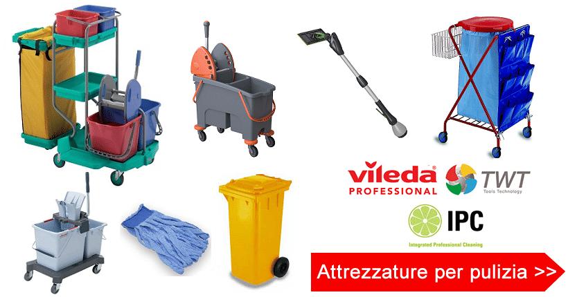 attrezzature per pulizia