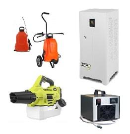 Macchine a ozono - Atomizzatori - Sanificatori aria